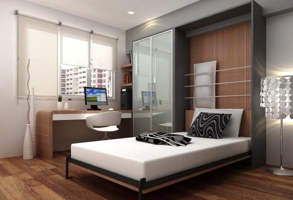 Зонирование комнаты помогает сэкономить место для небольших квартир