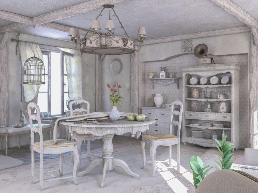 Мебель с эффектом состаренности