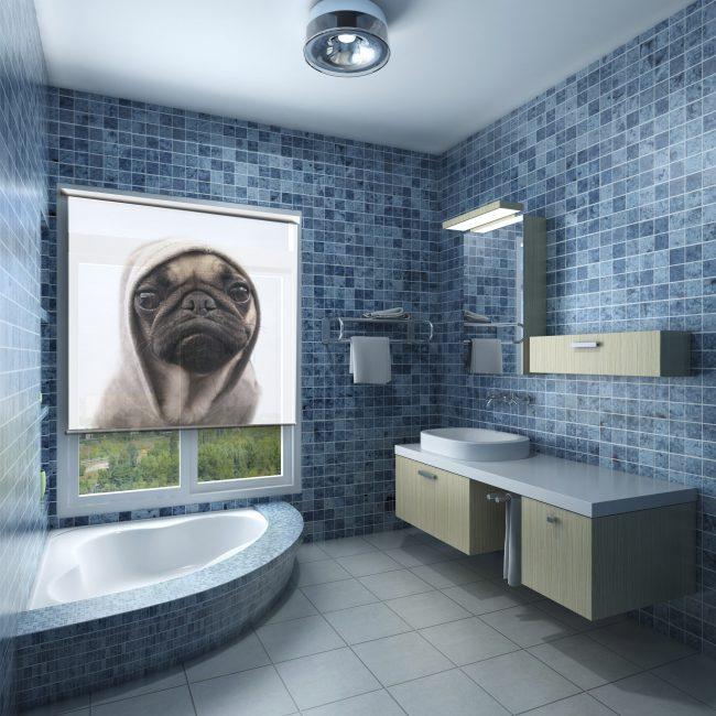 Забавный принт для ванной комнаты