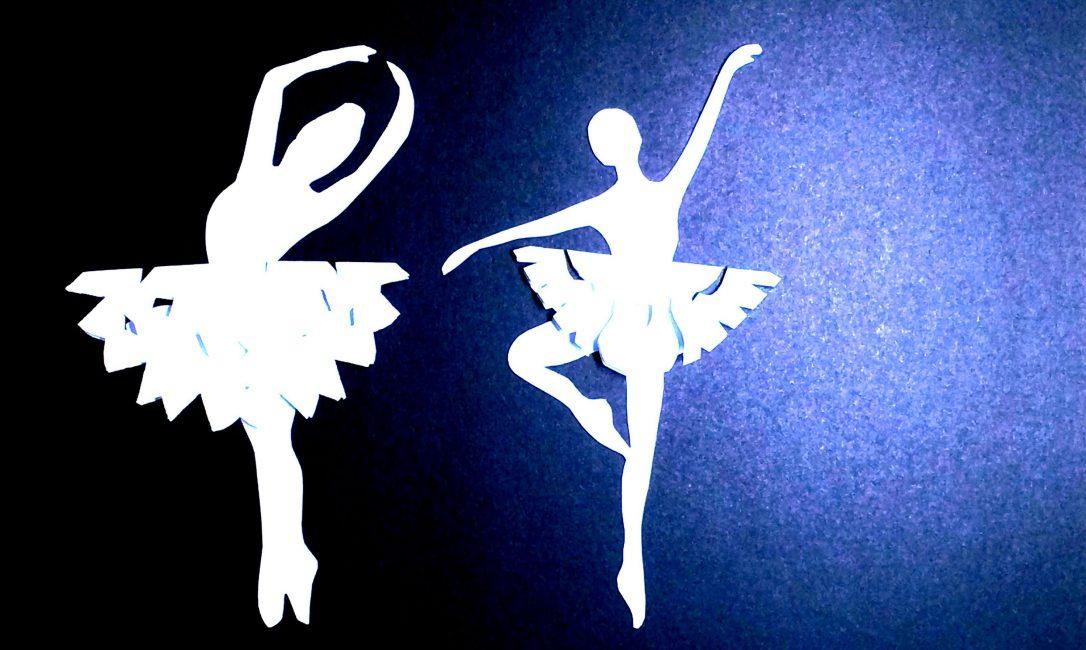 Получаем красивых снежинок-балеринок