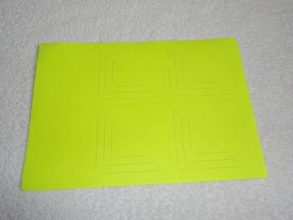 Вырезаем шесть квадратов