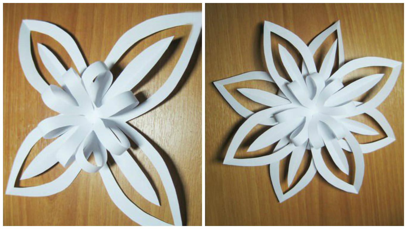 Снежинки своими руками из бумаги объемные из бумаги 81