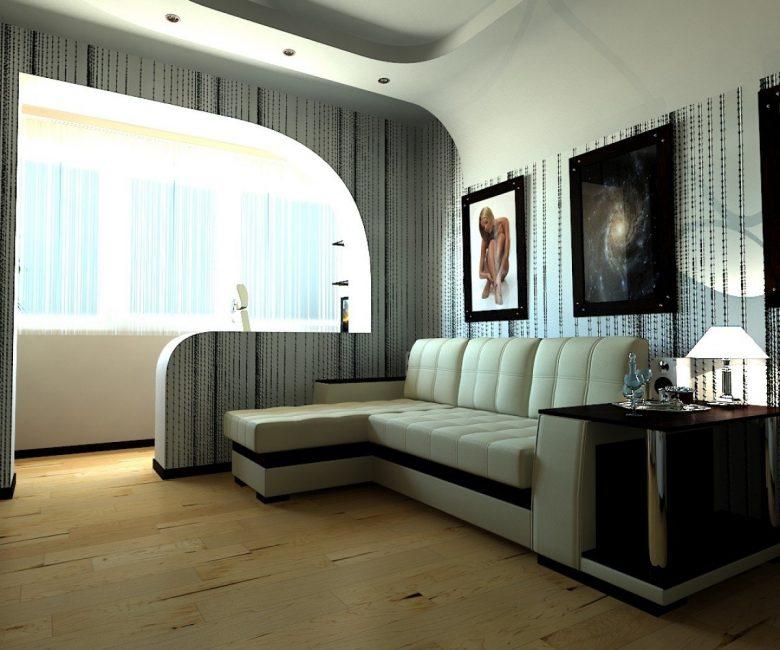 Диван в гостиной-спальне для экономии места