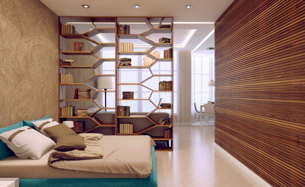 Потолок с разным освещением для зон комнаты
