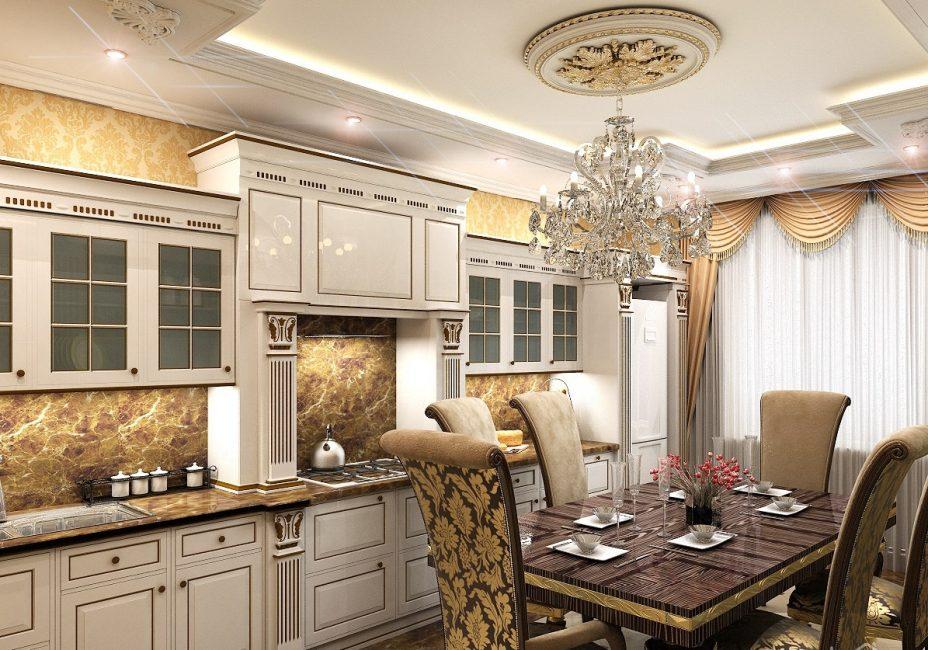 Декоративные элементы из лепнины станут изюминкой этого стиля