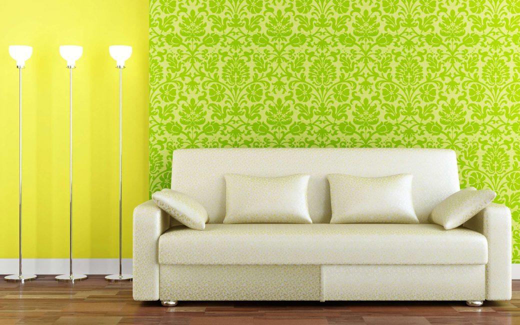 Сочетание нескольких зеленых текстур