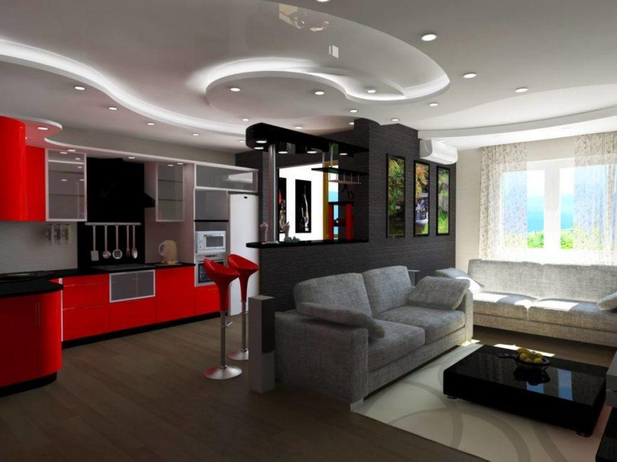Организовывайте зонирование с помощью угловой мебели