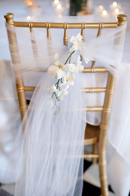 Украшение стула для невесты