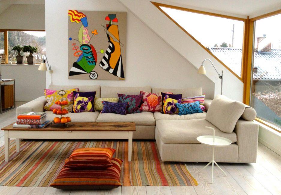 Декоративные подушки - помогут сделать интерьер ярче