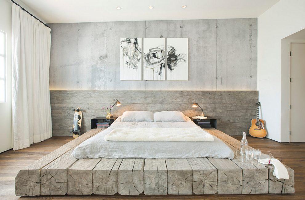 Креативный вариант для кровати