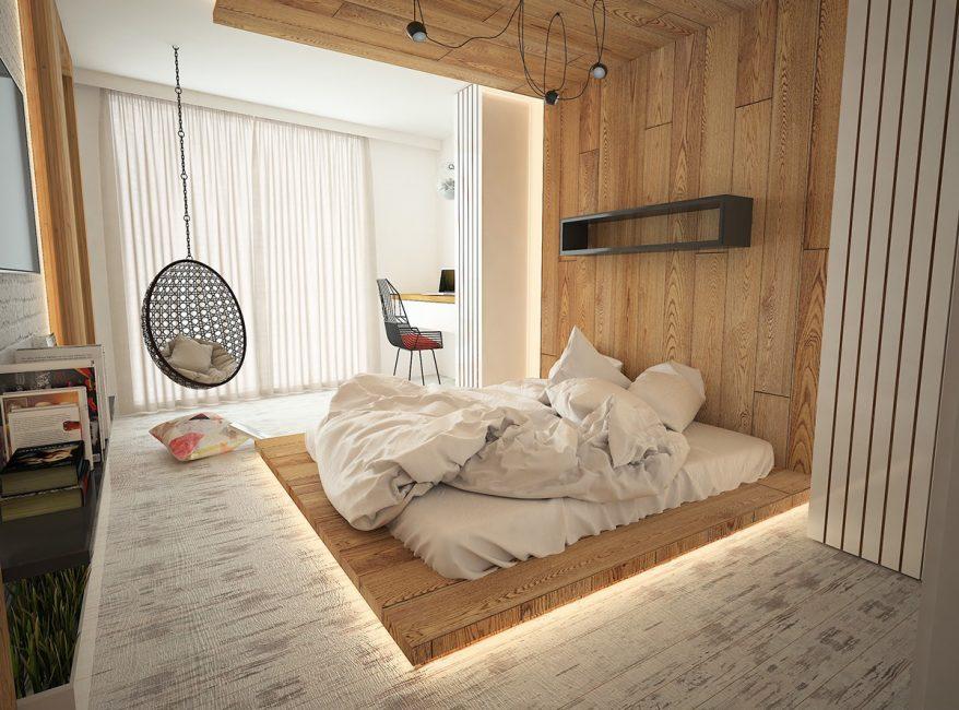 Уютная и современная спальня