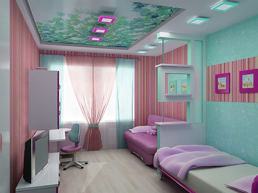 Стильная комната, в ярких цветах