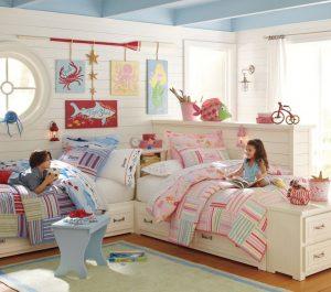 Дизайн детской спальни для двух и трех разнополых детей - 240+ (Фото) Идей зонирования интерьера