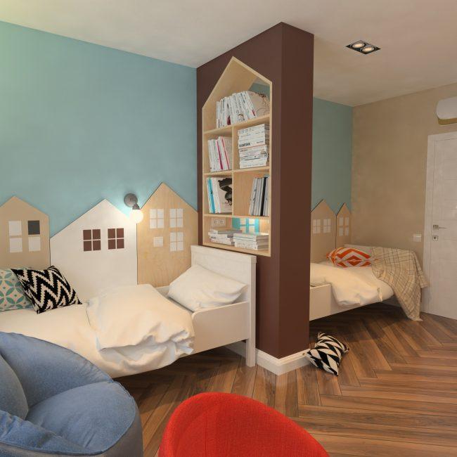 Подобный рисунок делает комнату уютнее