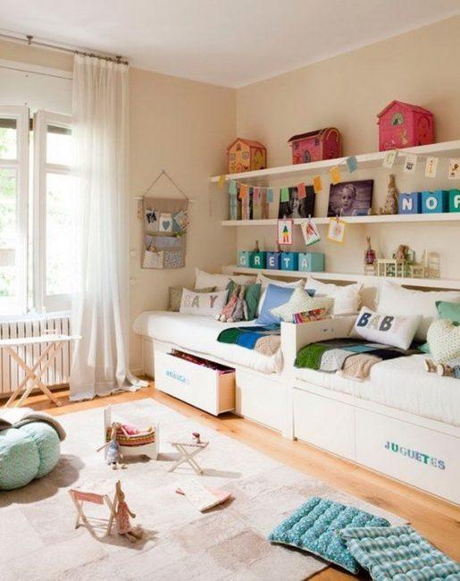 Удобные ящики для хранения вещей или игрушек