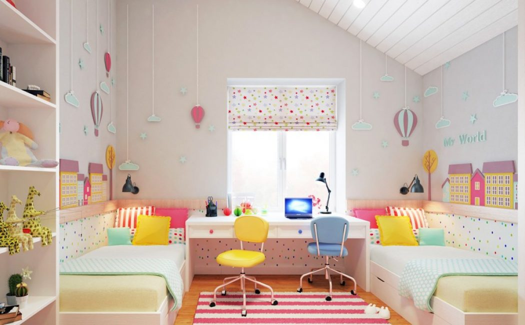Прекрасная комната в светлых тонах