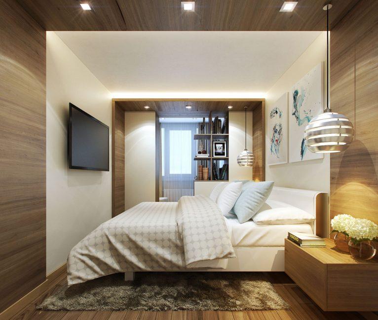 Спальня в хрущевке отличается небольшим метражом