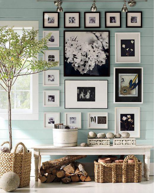 Коллаж из фото для украшения стены