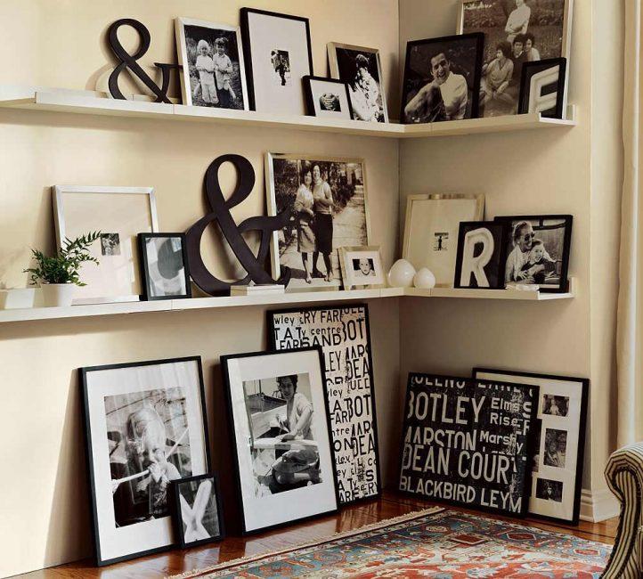 Черные рамки для черно-белых фото