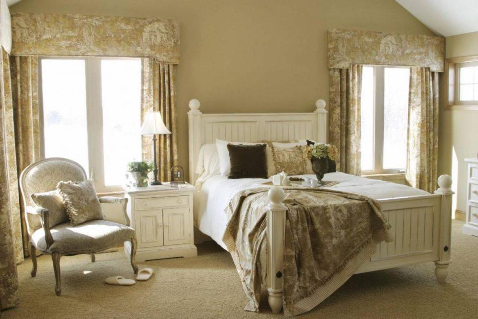 В такой спальне всегда приятно просыпаться