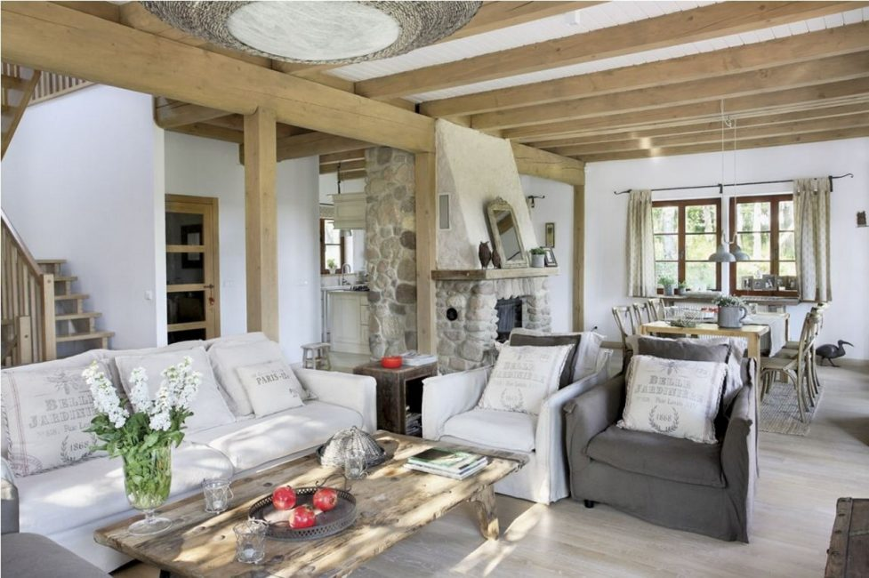 Целью стиля является создание комфортного и уютного интерьера