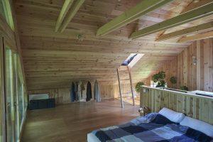 Дизайн дома с мансардой (170+ Фото) - Варианты отделки интерьера комнаты