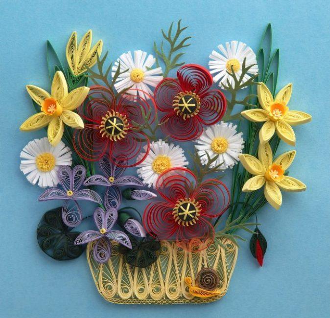Kvilling-2-e1519040205866-674x650 Цветы в технике квиллинг. Цветы из квиллинга