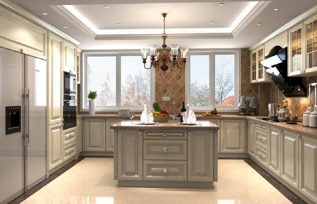 Вариант кухонного потолка