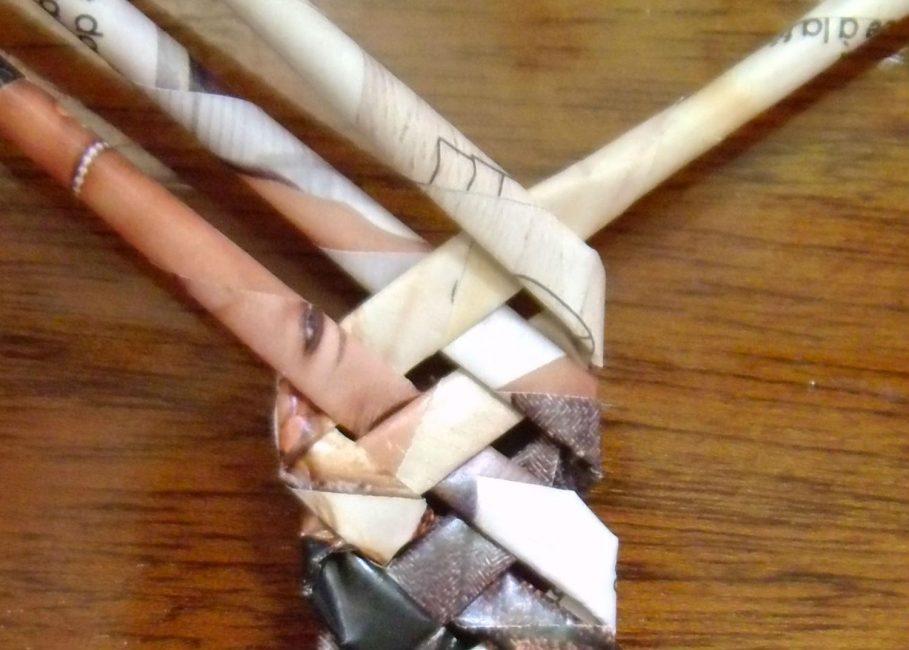 Техника плетения ручки
