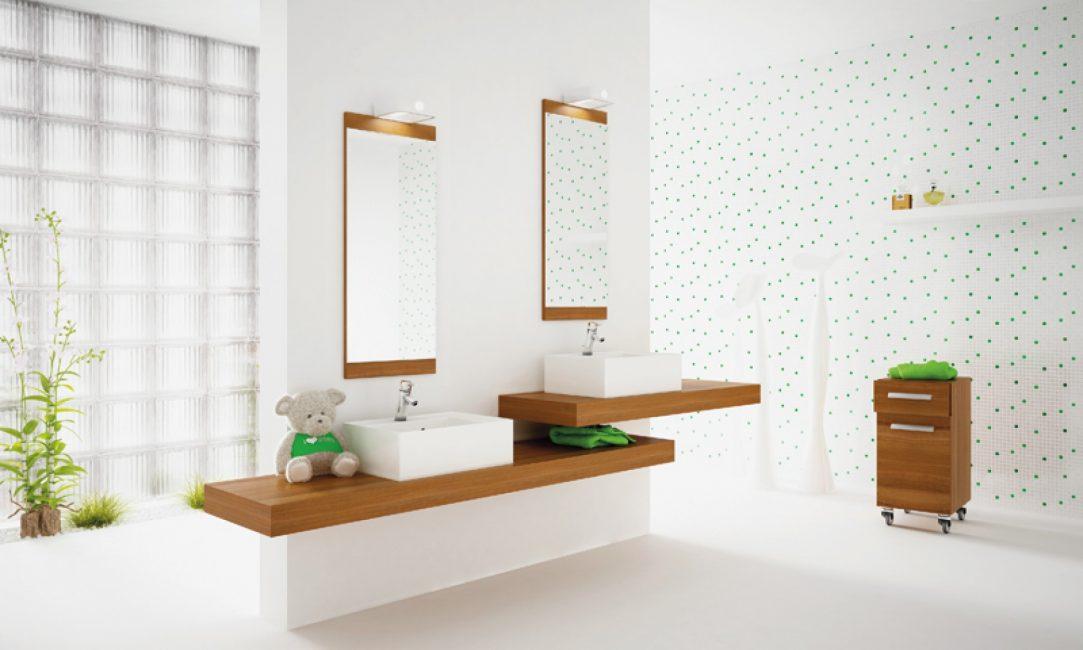 Вариант для просторных ванных комнат