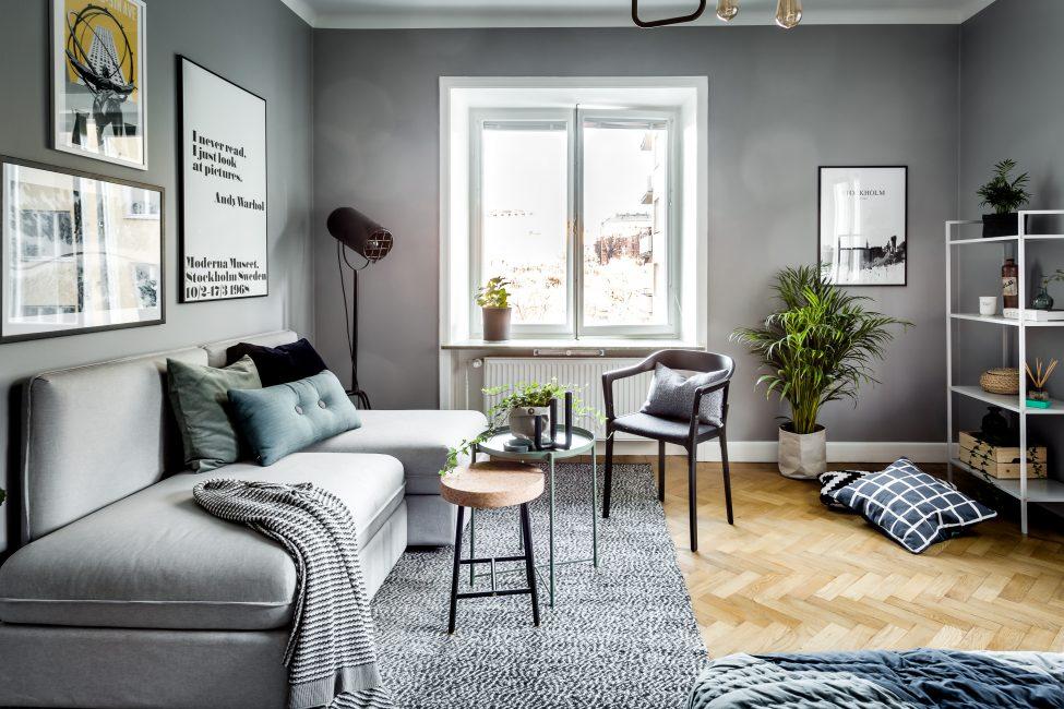 Чтобы гостиная смотрелась современно - стоит тщательно подбирать мебель