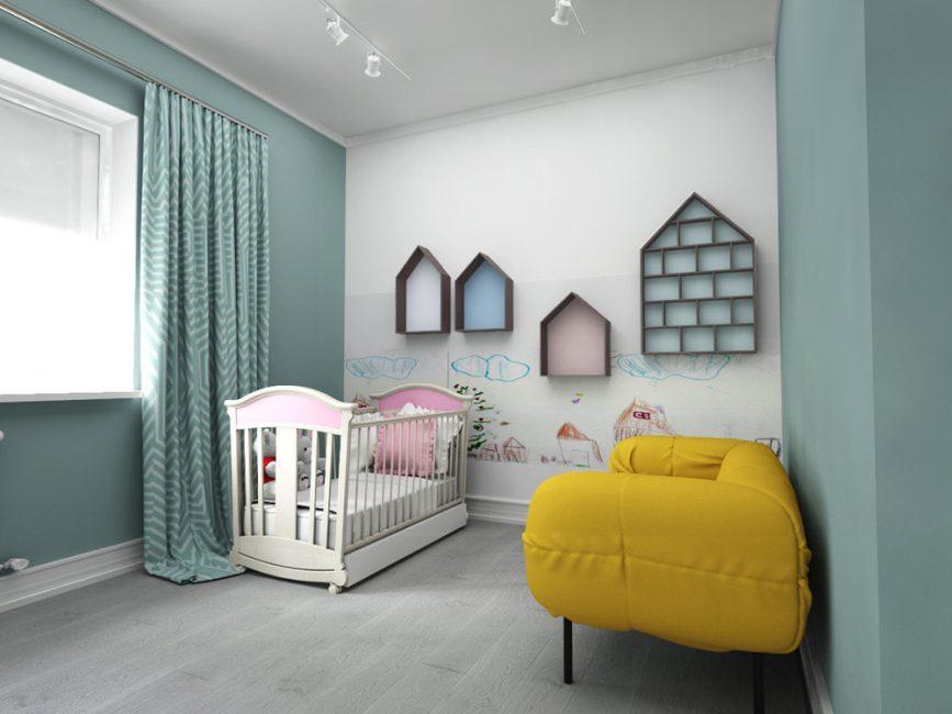Данный стиль отлично подходит для обустройства детских комнат