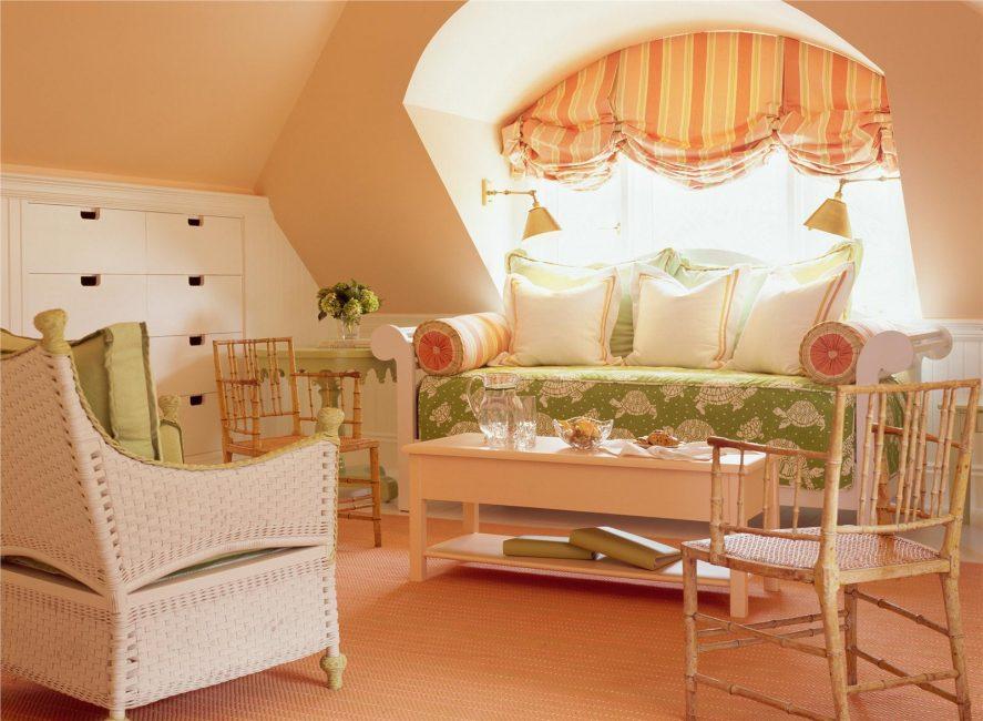 Данный цвет часто используется для оформления жилых помещений