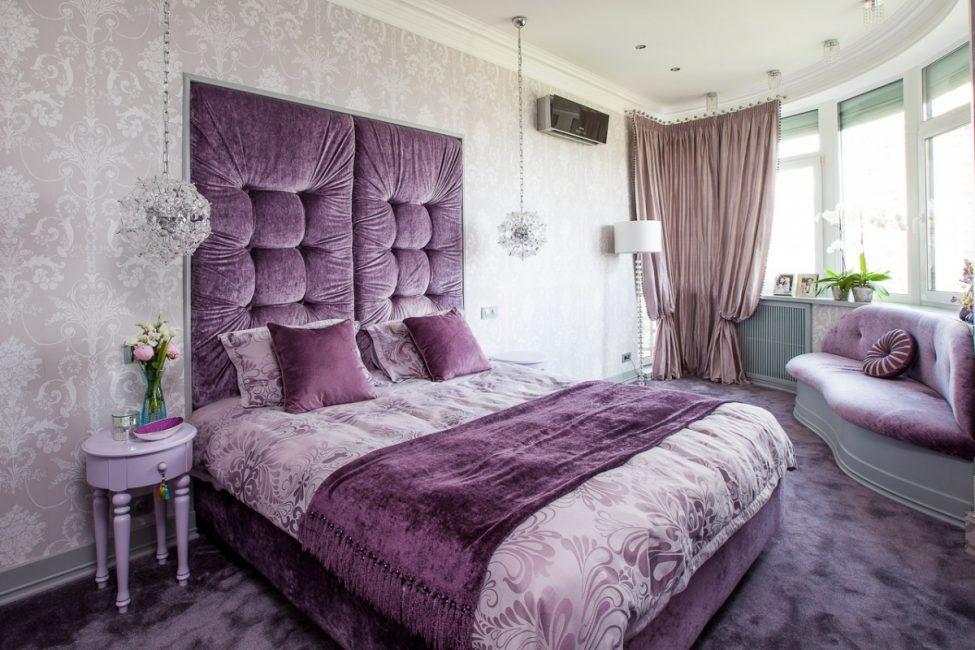 Фиолетовый - вариант для спальни