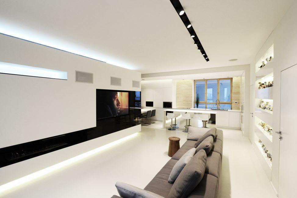 Выбирайте чистые линии, гладкую мебель, простые, четкие украшения