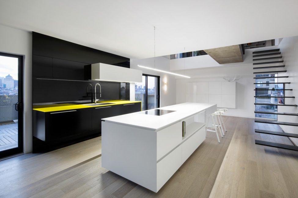 Современная кухонная конструкция