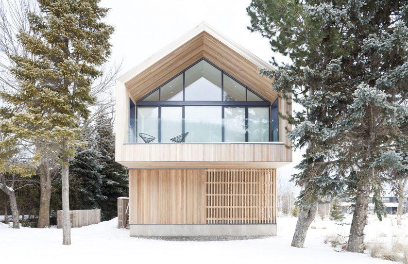 Дом в стиле шале современная изысканная альпийская архитектура