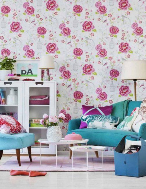 Флористический узор позволяет создать гармоничную обстановку дома