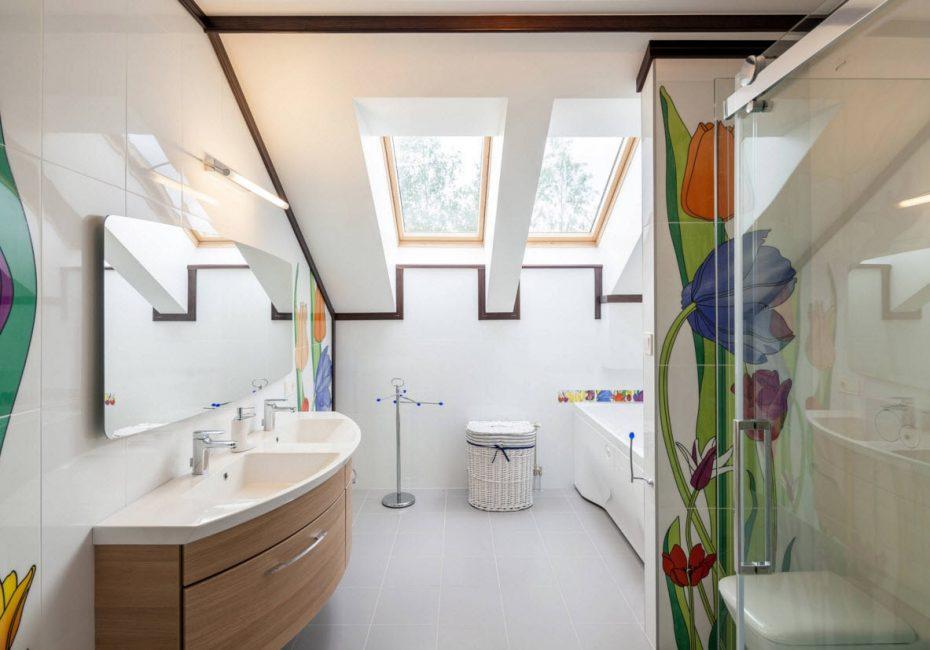 Добавляют ванной комнате элегантности
