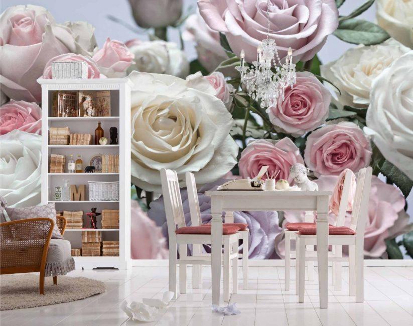 Красивые фотообои с розами