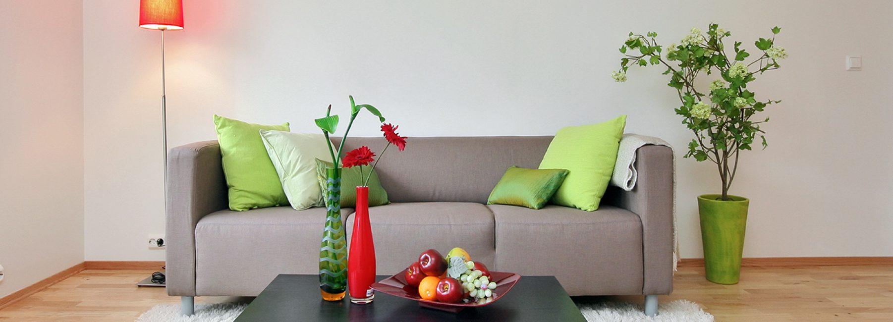 Растения помогут оживить гостиную