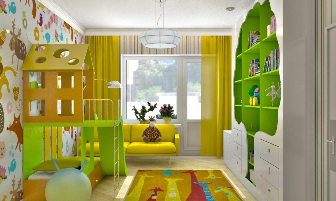 Цветы в дизайне детской