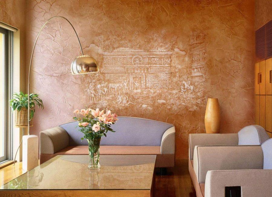 Венецианская штукатурка – это покрытие стен, которое имитирует различные благородные поверхности