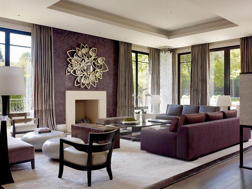 Красивая гостиная в классическом стиле