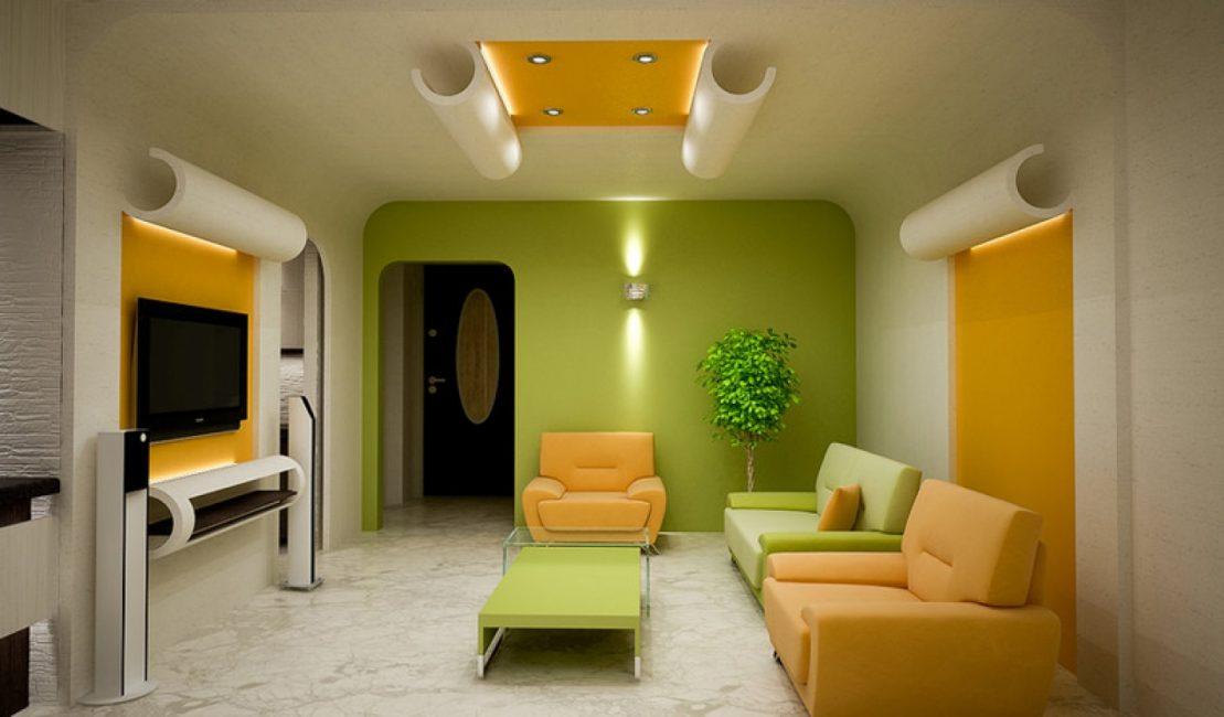 Сочный желтый с ярким зеленым – тандем, который заражает энергией
