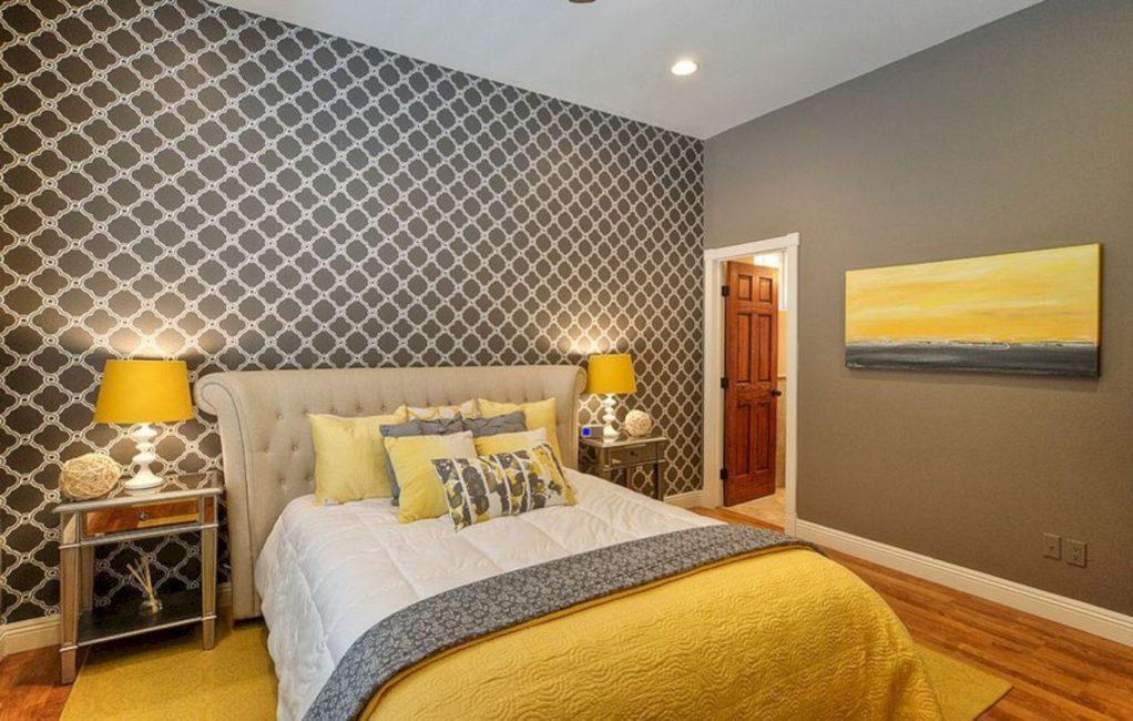 Подобная спальня смотрится элегантно и сдержано