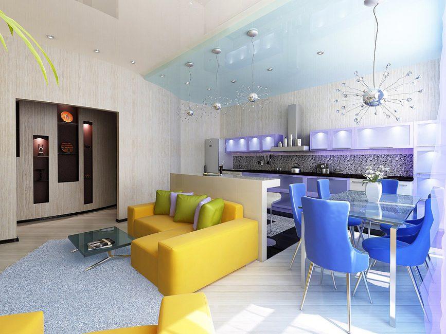 Выбирайте контрастные оттенки для мебели