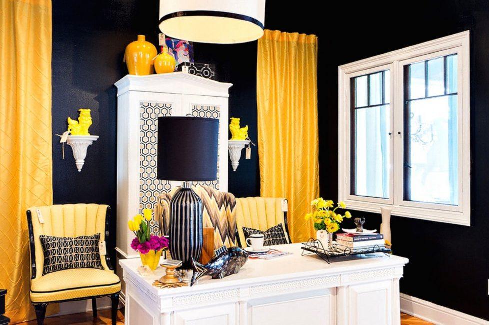 Черно-желтое сочетание