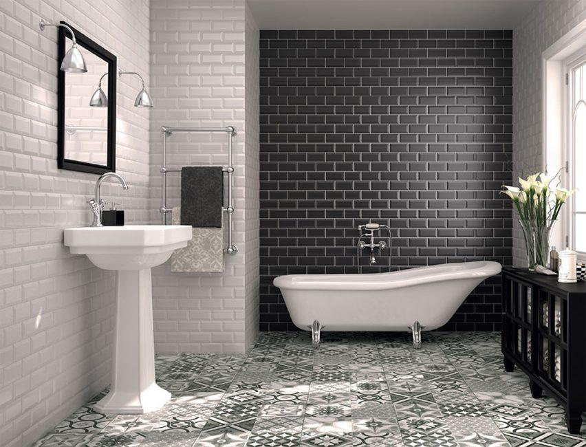 В оформлении ванной