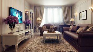 Бежевые обои в интерьере - 175+ (Фото) Комбинированных Сочетаний (в кухне, гостиной, спальне)